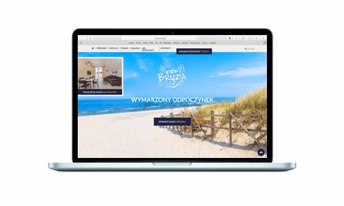 Strona internetowa dla Kompleksu Wypoczynkowego Bryza w Lubiatowie