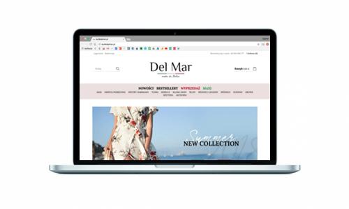 Sklep internetowy dla Butiku Delmar
